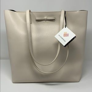 Kate spade on purpose bleach bone leather tote